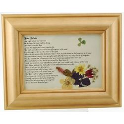 Footprints Framed Print with Pressed Flowers