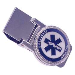 Personalized EMT Silver Hinged Money Clip