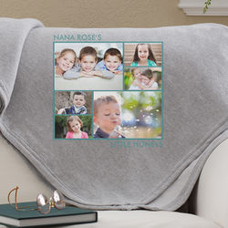 Picture Perfect 6 Photo Personalized Sweatshirt Blanket
