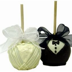 Bride and Groom Chocolate Covered Apples