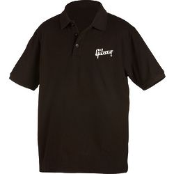 Gibson Logo Men's Black Polo Shirt
