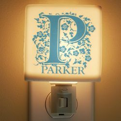 Personalized Name and Initial Porcelain Night Light