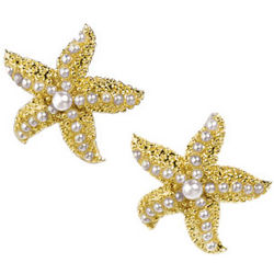 Gold-Plated Starfish Earrings