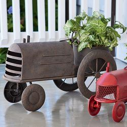 Metal Vintage Style Rust Tractor Planter