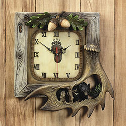 Bear Lodge Wall Art Clock