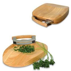 Portable Tri-fold Rubberwood Cutting Board