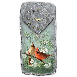 Springtime Song Cardinal Art Wall Clock