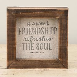 Sweet Friendship Refreshes Framed Canvas Print
