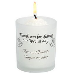 Personalized Wedding Votive Holder Set