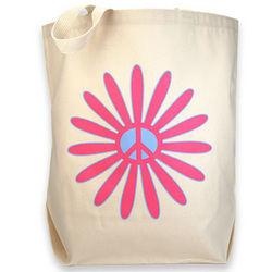 Flower Power Canvas Tote