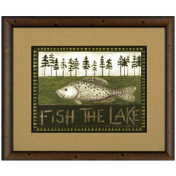 Fish the Lake Framed Print