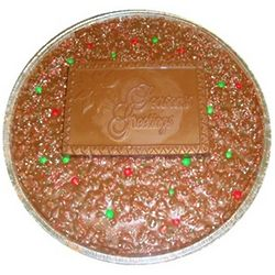 Seasons Greetings Chocolate Pizza