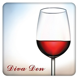 Red Wine Diva Den Coasters