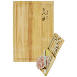 Deluxe Chopping Board and Cutlery Set