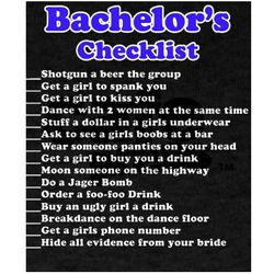 Bachelor Party Check List Dark T-Shirt