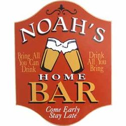 Handcrafted Personalized Pub Sign