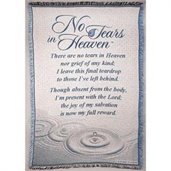 No Tears in Heaven Woven Throw