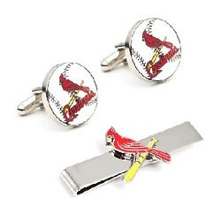 St. Louis Cardinals Cufflinks and Tie Bar Set