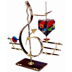 Musical G-Clef Dreidel Sculpture