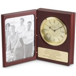 Large Photo Frame Book Clock