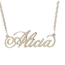 "Personalized 20"" Sterling Silver Filigree Name Necklace"