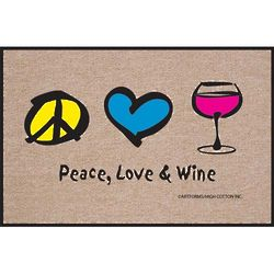 Peace, Love and Wine Doormat
