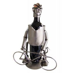 Bicycle Rider Wine Caddy