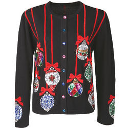 Christmas Ornaments Cardigan