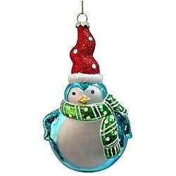 Brighten The Season Santa Penguin Ornament