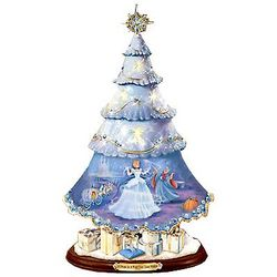 Cinderella's Christmas Wishes Porcelain Tree