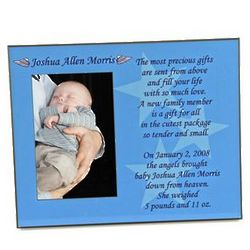 Personalized Gift from Angels Baby Boy Picture Frame
