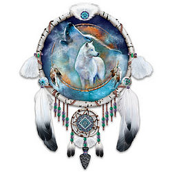 Souls of the Night Native American Inspired Dreamcatcher Plate