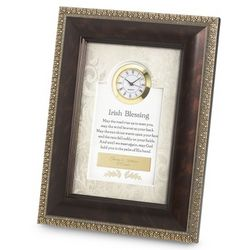 Irish Blessings Framed Clock