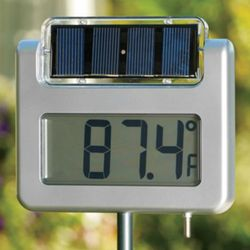 Solar-Powered Digital Clock and Thermometer