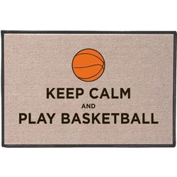 Keep Calm and Play Basketball Doormat