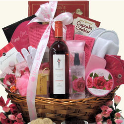 Skinny Girl Rose Haven Birthday Wine Gift Basket
