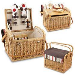 Willow and Canvas Wine and Cheese Basket