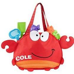 Personalized Fun in the Sun Crab Tote Bag
