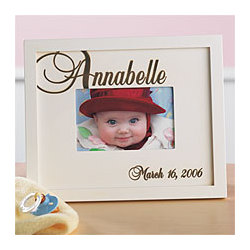Script Name Baby Photo Frame