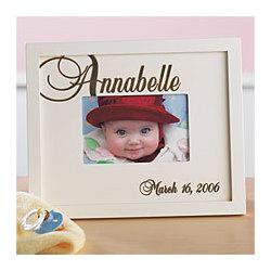 Script Name Baby Photo Frame