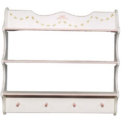 Garlands and Bows Decorative Wall Shelf