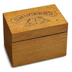 Smucker's Engraved Recipe Box
