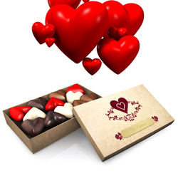 Je t'aime Heart Shaped Chocolates