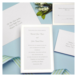 Platinum Border Wedding Invitation Kit