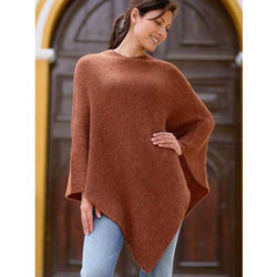 Autumn Splendor Alpaca Wool Poncho