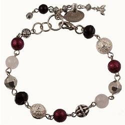 Burgundy Rosary Style Bracelet