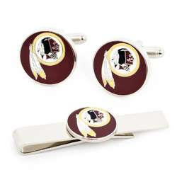Washington Redskins Cufflinks and Tie Bar Set