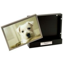 Personalized Magnetic Black Photo Box