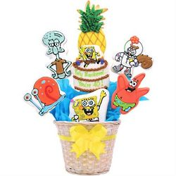 SpongeBob Shortbread Cookie Bouquet
