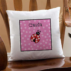 Personalized Girl's Throw Pillow